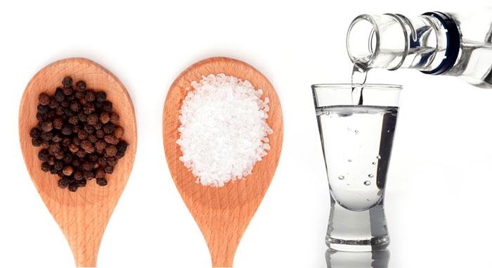 Водка с солью и перцем