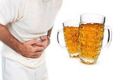 Почему от пива понос с утра?