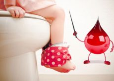 У ребенка понос с кровью
