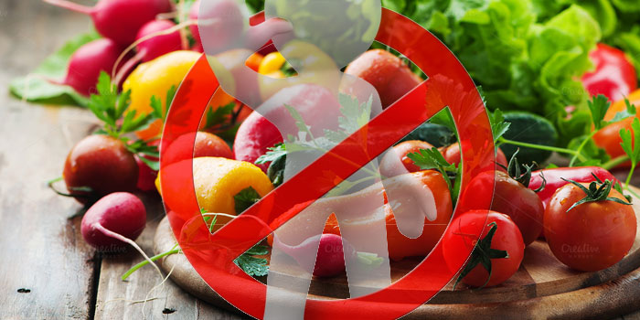 исключитьырые овощи, зелень