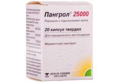Таблетки Пангрол 25000
