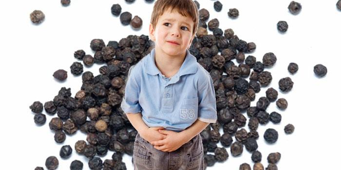 черный перец детям