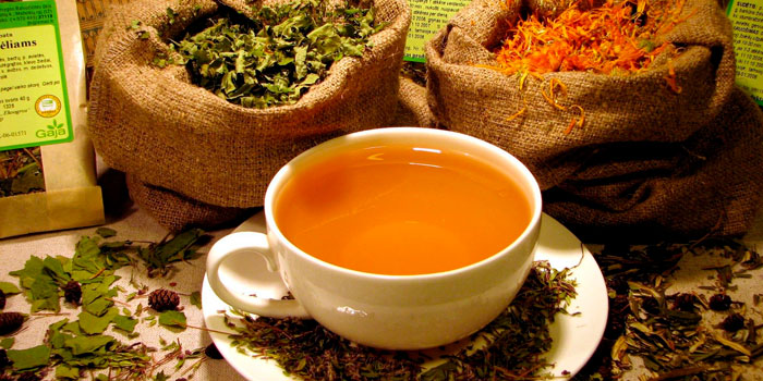 Пить травяные чаи и отвары