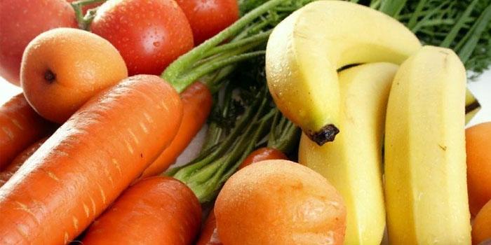 банан и морковь
