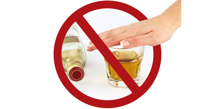 Отказ от спиртных напитков