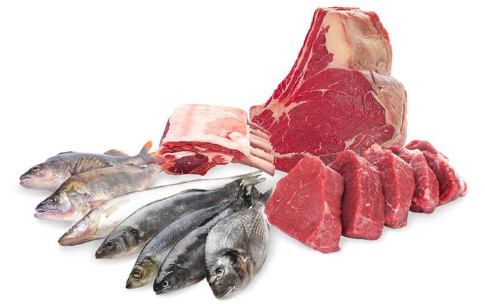 Сырая рыба и мясо