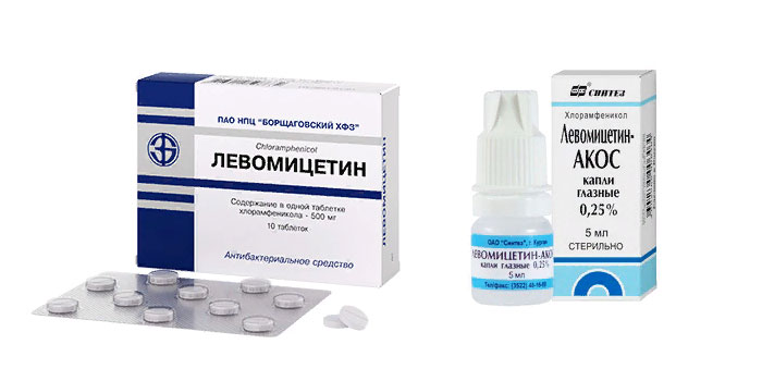 Левомицетин форма выпуска