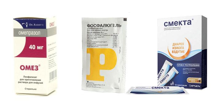 Медикаментозное лечение изжоги и диареи